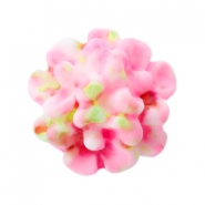 Bloemen kralen boeket 10mm Light pink-green