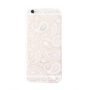 Trendy telefoonhoesjes voor iPhone 7 Plus paisley Transparent-white