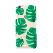 Trendy telefoonhoesjes voor iPhone 7 palm leaf Transparent-green