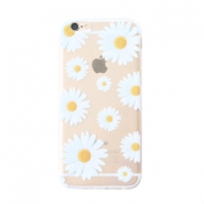 Trendy telefoonhoesjes voor iPhone 6 Plus daisies Transparent-white yellow