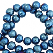 Hematite kralen rond 10mm Dynamic blue