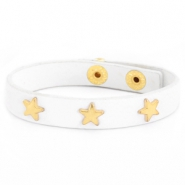 Trendy armbanden met studs gold star White