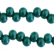 6 mm glaskralen Dark emerald green