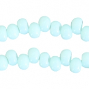 6 mm glaskralen Turquoise light blue