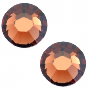 Swarovski Elements SS30 flat back (6.4mm) Smoked topaz
