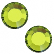 Swarovski Elements SS30 flat back (6.4mm) Olivine green