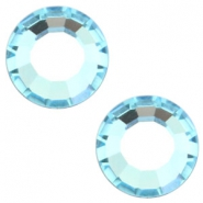 Swarovski Elements SS30 flat back (6.4mm) Aquamarine blue