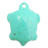 DQ acryl bedels schildpad Turquoise
