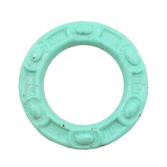 DQ acryl bedels 50mm ring Boho Turquoise