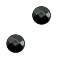 DQ acryl kralen plat rond 14mm facet Black