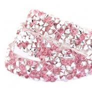 Crystal diamond tape 10mm Pink silver
