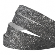 Crystal glitter tape 10mm Dark grey