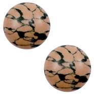 Cabochon basic stone look 12mm Sand brown-black