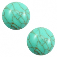 Cabochon basic stone look 20mm Turquoise green-brown