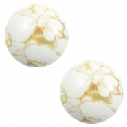 Cabochon basic stone look 20mm White-beige brown