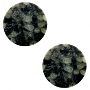 Cabochon basic plat stone look 20mm Black-green