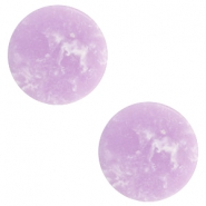 Cabochon basic plat stone look 12mm Lavender purple