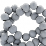 Houten kralen rond 8 mm Cool grey