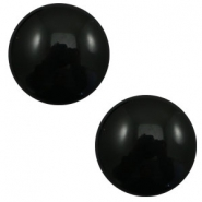 20 mm classic cabochon Polaris Elements pearl shine Black