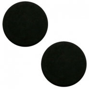 12 mm platte cabochon Polaris Elements matt Black