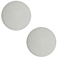 12 mm platte cabochon Polaris Elements matt Light cloudy grey