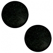 12 mm platte cabochon Super Polaris Black