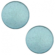 12 mm platte cabochon Super Polaris Dark sea blue