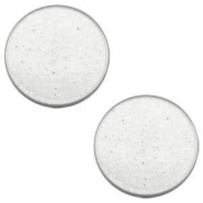 12 mm platte cabochon Super Polaris Light cloudy grey