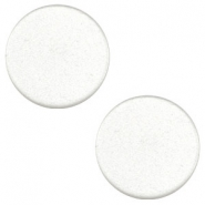 12 mm platte cabochon Super Polaris White