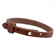 Cuoio armbanden nubuck leer 8 mm voor 12 mm cabochon Chocolate brown