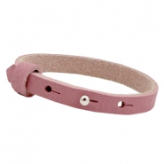 Cuoio armbanden nubuck leer 8 mm voor 12 mm cabochon Cashmere rose