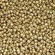 Glaskralen Rocailles 12/0 (2mm) Gold