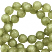 Polaris kralen rond 10 mm pearl shine Salvia green