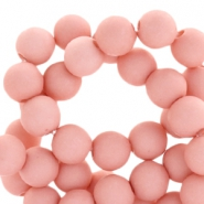 8 mm acryl kralen mat Light shell pink