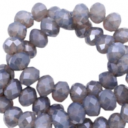 Top Facet kralen 8x6 mm disc Lavender greige-pearl high shine coating