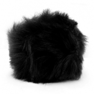 Pompom bedel faux fur Black