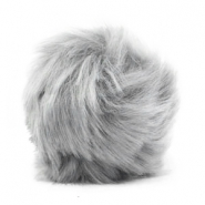 Pompom bedel faux fur Light grey