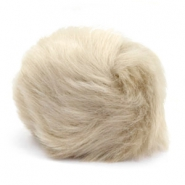 Pompom bedel faux fur Beige brown