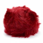 Pompom bedel faux fur Burgundy red