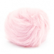 Pompom bedel faux fur Light pink