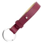 Cuoio sleutelhangers leer 15mm voor 20mm cabochon Tawny port red