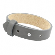 Cuoio armbanden leer 15 mm voor 20 mm cabochon Anthracite grey