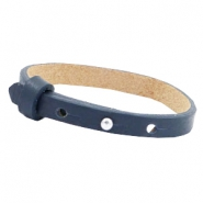 Cuoio armbanden leer 8 mm voor 12 mm cabochon Dark midnight blue