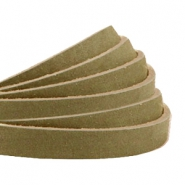 Plat 5 mm DQ leer nubuck Light olive green