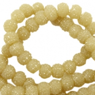 Sparkling beads 6mm Mustard green