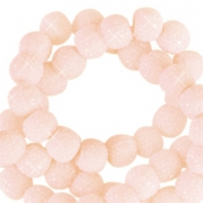 Sparkling beads 6mm Dusty pink