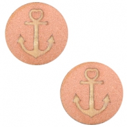 Houten cabochon anchor 20mm Rosegold
