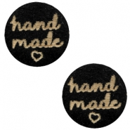 "Houten cabochon ""hand made"" 12mm Black"