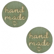 "Houten cabochon ""hand made"" 12mm Dark green"