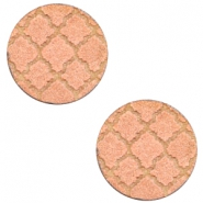 Houten cabochon Moroccan design 12mm Rosegold